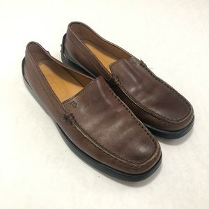 Tod's Brown Leather Driving Loafers—EUC 8.5
